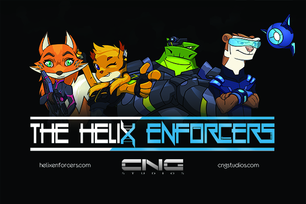 The Helix Enforcers team (Fox, Squirrel, Iguana and Ferret)